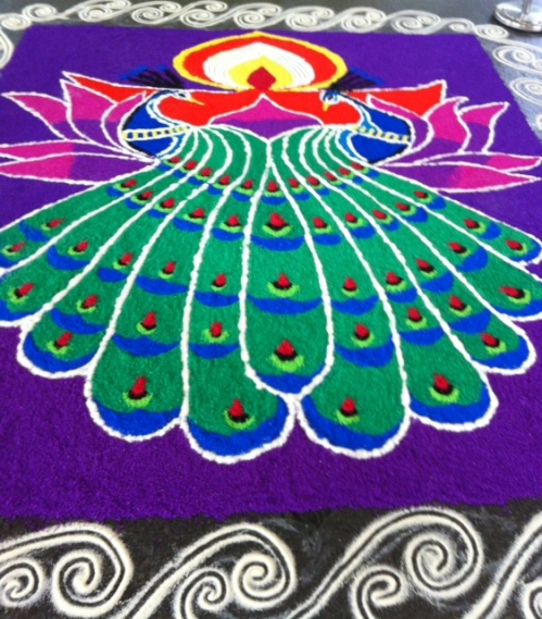 Sand art for Deepavali
